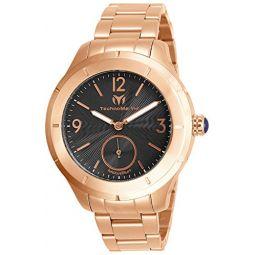 Technomarine Mens MoonSun Quartz Watch with Stainless Steel Strap, Rose Gold, 18 (Model: TM-818007)