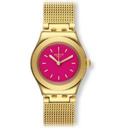 Swatch TWIN PINK Irony Lady YSG142M Gold tone Watch