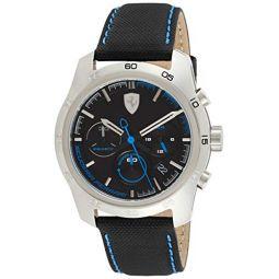 Ferrari Primato Chronograph Black and Blue Dial Mens Watch 830445