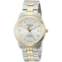 Tissot Mens T0494072203100 PR 100 Analog Display Swiss Automatic Two Tone Watch