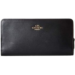 COACH Womens Smooth Leather Skinny Wallet