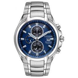 Citizen Mens Eco-Drive Watch with Titanium Strap, Silver, 26 (Model: CA0700-51L)