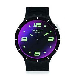 Swatch Futuristic Black Quartz Mens Watch SO27B119