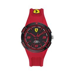 Ferrari Quartz Watch with Silicone Strap, Red, 16 (Model: 840037)