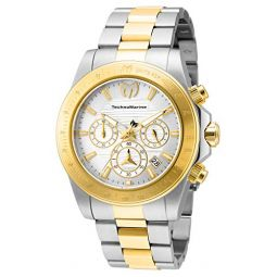 TechnoMarine Mens Manta Ray Quartz Watch with Stainless Steel Strap, Gold, 22 (Model: TM-219002)