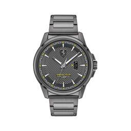 Ferrari Mens Quartz Watch with Stainless Steel Strap, Grey, 22 (Model: 0830836)