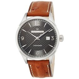 Hamilton Jazzmaster Viewmatic Auto H32755851 Black/Brown Leather Analog Automatic Mens Watch