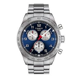 Tissot Mens PRS 516 Chrono 316L Stainless Steel case Swiss Quartz Strap, Grey, 22 Casual Watch (Model: T1316171104200)