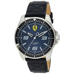 Ferrari Mens XX KERS Stainless Steel Quartz Watch with Nylon Strap, Black, 21 (Model: 830486)