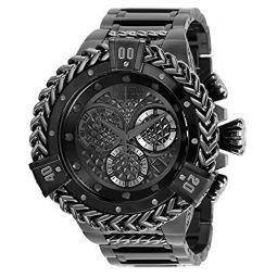 Invicta Men Reserve Quartz Watch with Stainless Steel Strap, Black, 31 (Model: 35378)