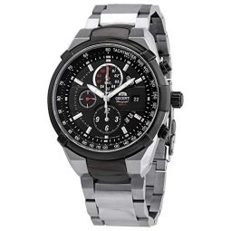 Orient Chronograph Quartz Black Dial Mens Watch FTT0J002B