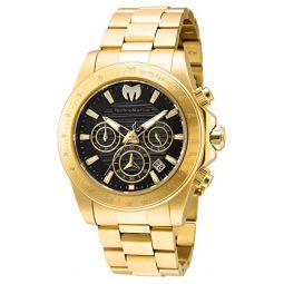 Technomarine Mens Manta Ray Quartz Watch with Stainless Steel Strap, Gold, 22 (Model: TM-219005)