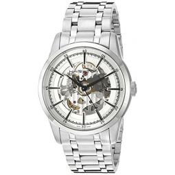 Hamilton Mens Timeless Classic Swiss Automatic Stainless Steel Dress Watch, Color:Silver-Toned (Model: H40655151)