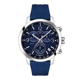 Tissot Mens PRC 200 Gent Chr Qua Stainless Steel Swiss Quartz Rubber Strap, Blue, 20 Casual Watch (Model: T1144171704700)