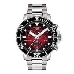 Tissot Mens Seastar 660/1000 Swiss Quartz Stainless Steel Strap, Grey, 22 Casual Watch (Model: T1204171142100)