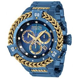 Invicta Mens Reserve HERC Quartz Watch with Stainless Steel Strap, Blue, 31 (Model: 34841)