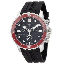 Tissot Mens T0664171705701 Seastar Analog Display Swiss Quartz Black Watch