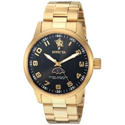 Invicta Mens Sea Base Quartz Watch with Stainless-Steel Strap, Gold, 22 (Model: 23825)