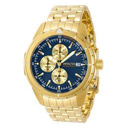 Invicta Aviator Chronograph Quartz Blue Dial Mens Watch 31496