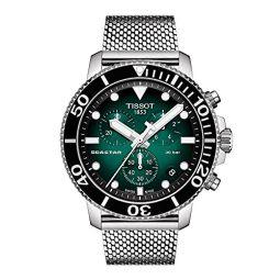 Tissot Mens Seastar 660/1000 316L Stainless Steel case Swiss Quartz Strap, Grey, 22 Casual Watch (Model: T1204171109100)