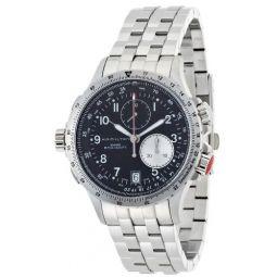Hamilton Mens H77612133 Khaki ETO Black Chronograph Dial Watch