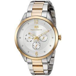 Technomarine Mens Moonsun Quartz Watch with Two-Tone-Stainless-Steel Strap, 20 (Model: TM-117040)