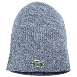 Lacoste Mens Ribbed Little Croc Beanie