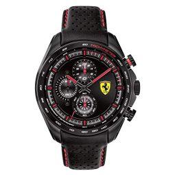 Ferrari Mens Quartz Stainless Steel Strap, Black, 22 Casual Watch (Model: 830647)