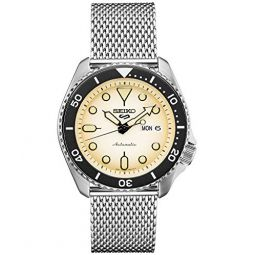 Seiko 5 Sports SRPE75 Mens Stainless Steel Mesh Band 24 Jewels Day Date Automatic Watcvch