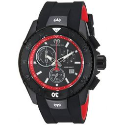 Technomarine Mens UF6 Stainless Steel Quartz Watch with Silicone Strap, Black, 26 (Model: TM-616002)