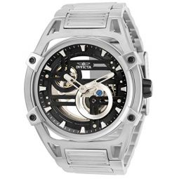 Invicta Mens Akula Automatic Watch with Stainless Steel Strap, Silver, 30 (Model: 32360)