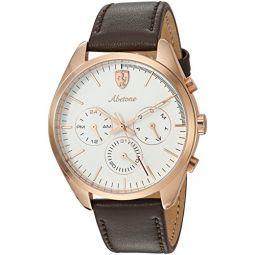 Ferrari Mens 0830504 Abetone Analog Display Quartz Brown Watch