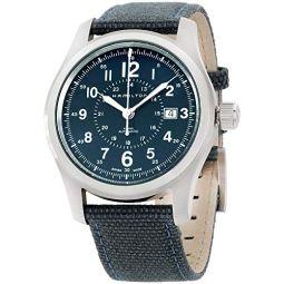 Hamilton Khaki Field Auto H70605943 Blue / Blue Nylon Analog Automatic Mens Watch