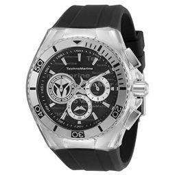 Technomarine Mens Cruise California Stainless Steel Quartz Watch with Silicone Strap