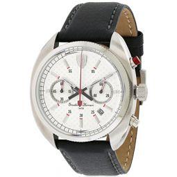 Ferrari 830241 Scuderia Leather Mens Watch - Silver Dial