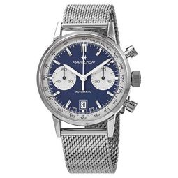 Hamilton American Classic Intra-Matic Chronograph Automatic Blue Dial Mens Watch H38416141