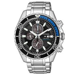 Citizen Mens Eco-Drive Watch with Stainless Steel Strap, Silver Tone, 22 (Model: CA0719-53E)