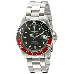 Invicta Mens 9403SYB Pro Diver Analog Display Automatic Self Wind Silver Watch