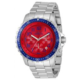 Invicta Mens Specialty Quartz Watch with Stainless Steel Strap, Silver, 22 (Model: 34007)