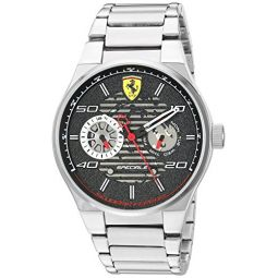 Ferrari Mens Speciale Quartz Watch with Stainless-Steel Strap, Silver, 26 (Model: 830432)