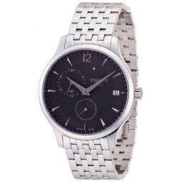 Tissot Mens Tradition Silver/Anthracite Stainless Steel Watch