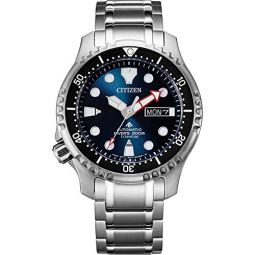 Citizen Mens Promaster Marine Automatic Watch with Titanium Strap, Silver, 20 (Model: NY0100-50ME)