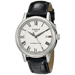 Tissot Mens T0854071601300 T Classic Carson Analog Display Swiss Automatic Black Watch