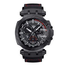Tissot Mens T-Race MotoGP Special Edition Quartz Stainless Steel Strap, Black, 22 Casual Watch (Model: T1154173706104)