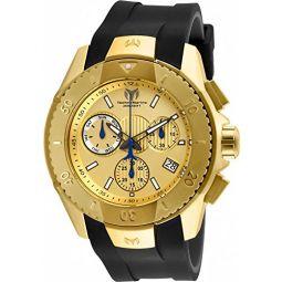 Technomarine UF6 Swiss Chronograph 48mm Gold Stainless Steel Mens Watch TM-617001