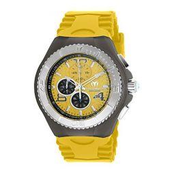Technomarine Mens Cruise Jellyfish Stainless Steel Quartz Watch with Silicone Strap, Yellow, 29 (Model: TM-115112)