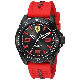 Ferrari Mens 0830498 XX KERS Analog Display Quartz Red Watch