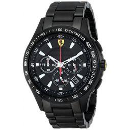 Ferrari Mens 0830046 Scuderia Analog Display Quartz Black Watch