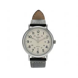 Timex Weekender 40mm Leather Strap Watch