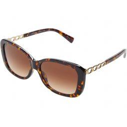 COACH HC8286 57 mm Rectangular Sunglasses